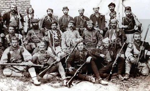 Bulgarian soldiers from the 19th century
