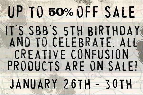Creative Confusion 50% off Sale! :)