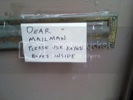 Letter to Mr. Postman