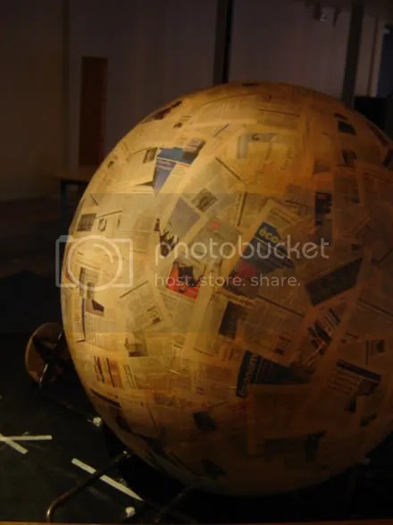 Huge Papier Mâché Ball