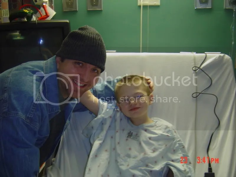 Koby and his Uncle Joel keep the staff on Childrens Hospital of Milwaukee on their toes. These two brave souls keep each other and their doctors and nurses in high spirits as they recover over the Christmas holiday.