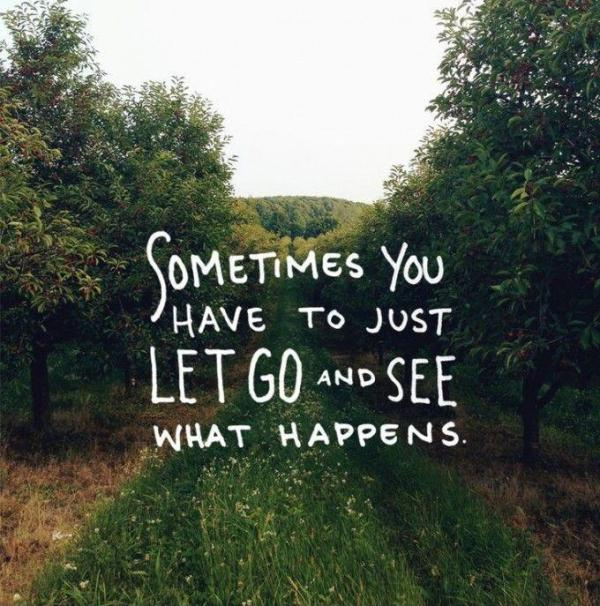Sometimes You Just Have To Let Go Quotes. QuotesGram