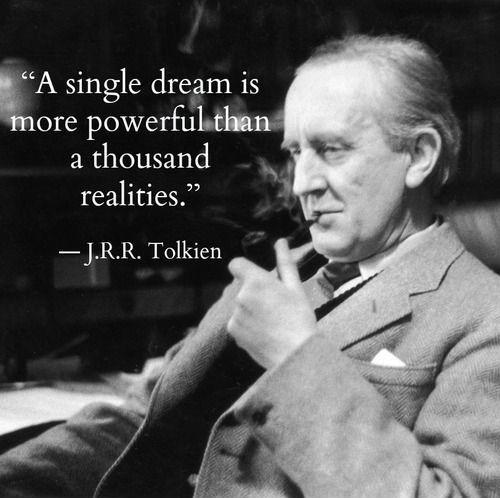 A single dream is more powerful than a thousand realities. Picture Quote #2