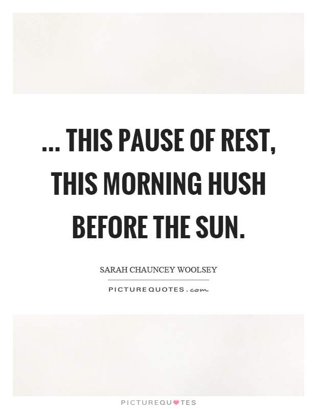 Image result for morning hush