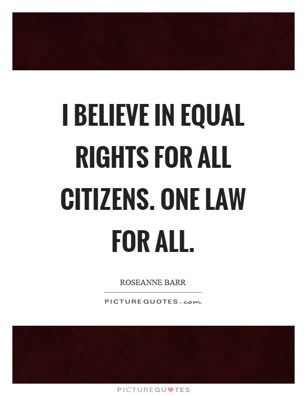 Image result for one law for all