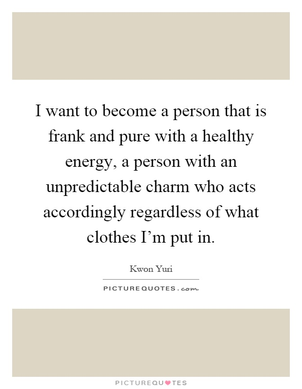 Frank I Want Be Pure