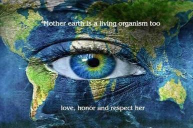 Mother Earth is a living organism too. Love, honor and respect ...