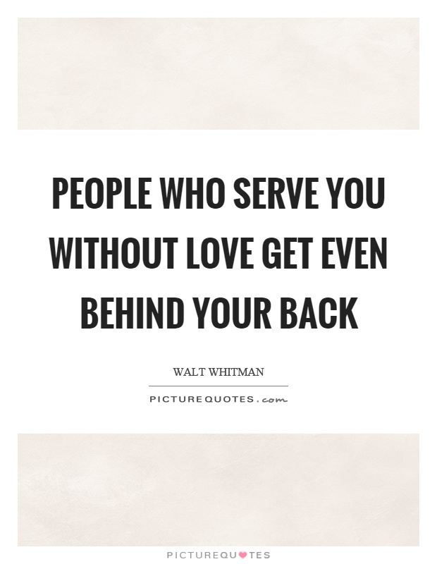 Behind You Talks Your Someone When Back Love