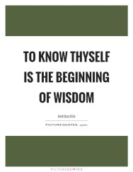 Image result for quote + know thyself