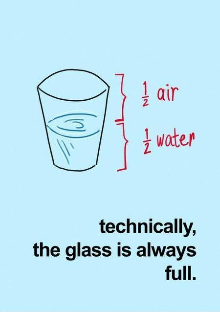 Technically the glass is always full. Picture Quote #1