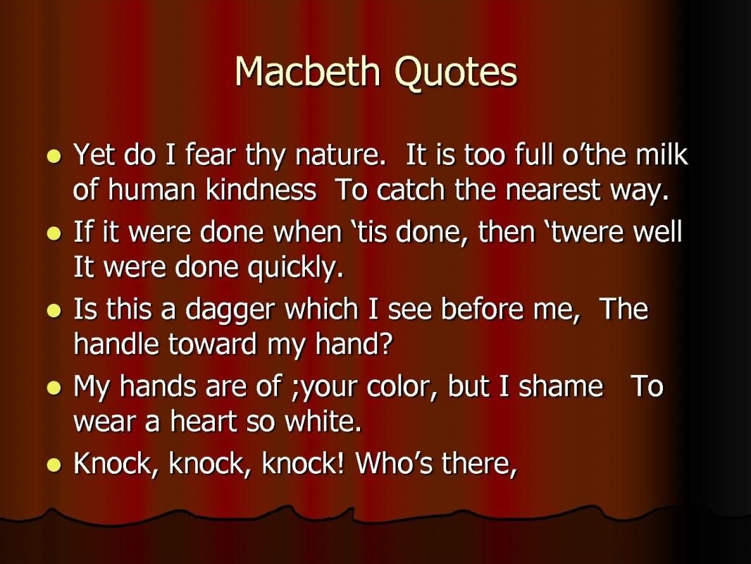 macbeth importance of ambition
