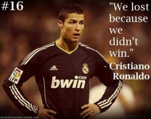 We lost because we didn't win - Cristiano Ronaldo, good at football, rest ...hmm