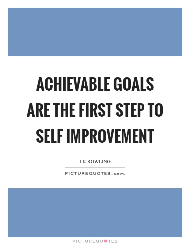 Good Self Improvement Goals