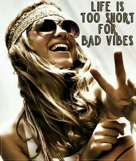 Life is too short for bad vibes Picture Quote #1
