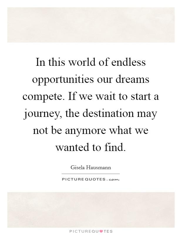 Not Journey Destination Faith