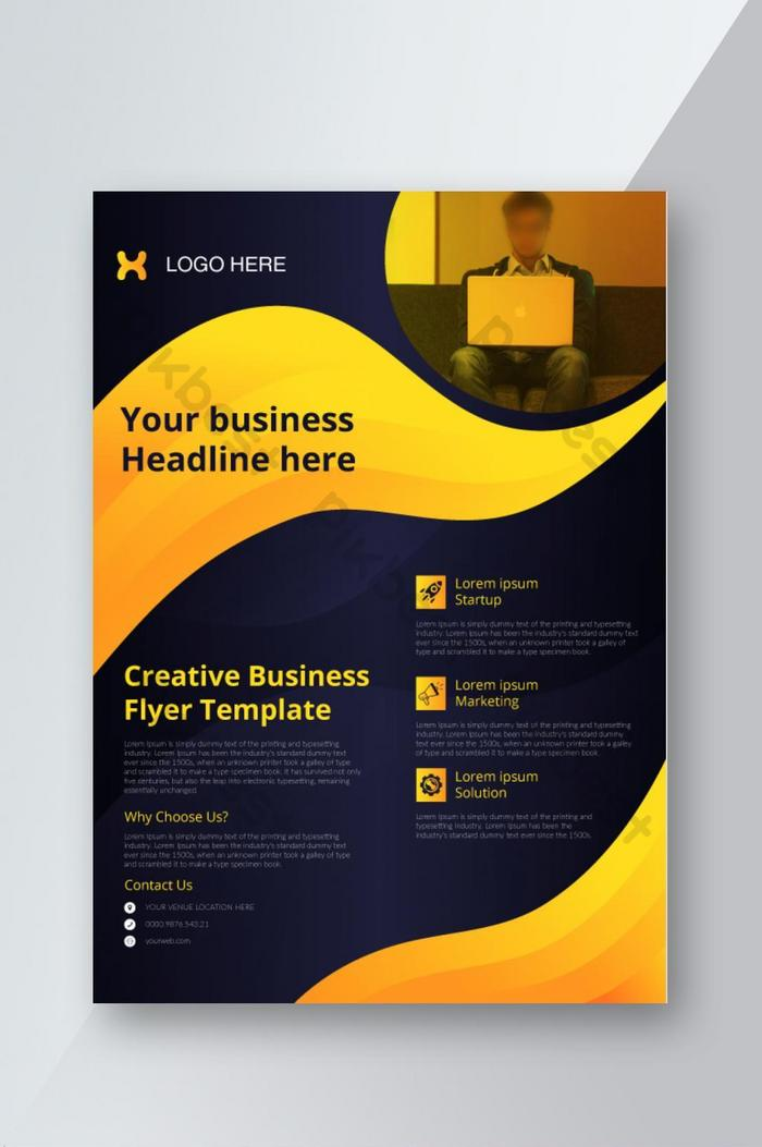 professional luxury a4 business flyer