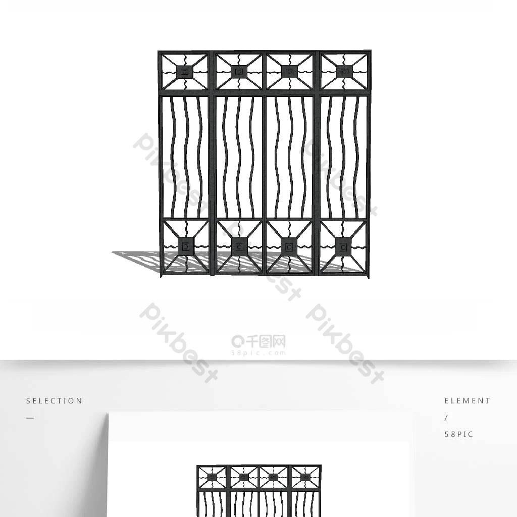 paravent portail en fer forge et garde