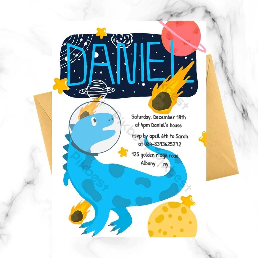 cartoon dinosaur birthday party