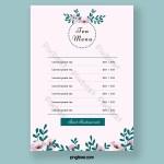 Pink Fresh Afternoon Tea Flower Illustration Tea Restaurant Menu Psd Free Download Pikbest