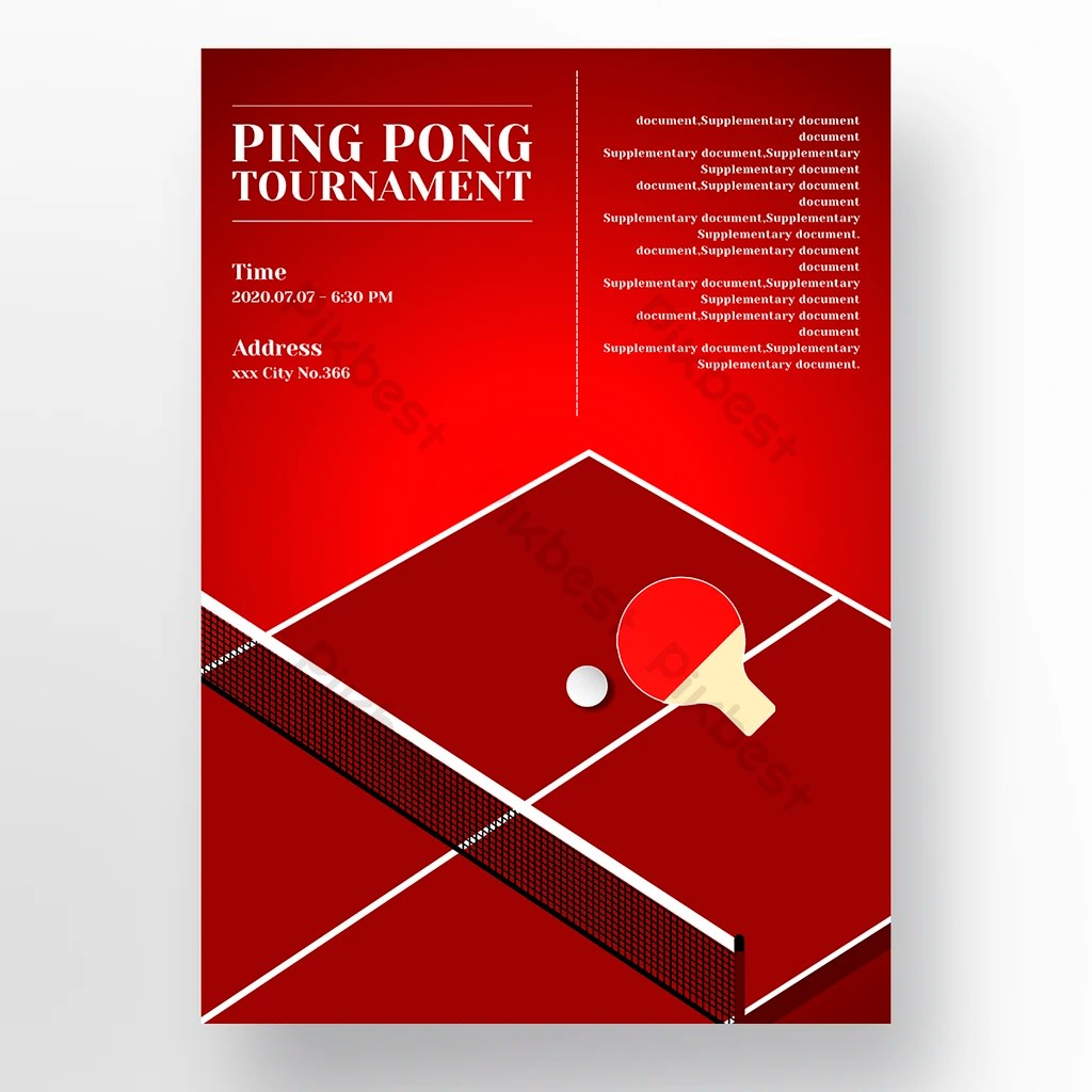 high end red table tennis racket table
