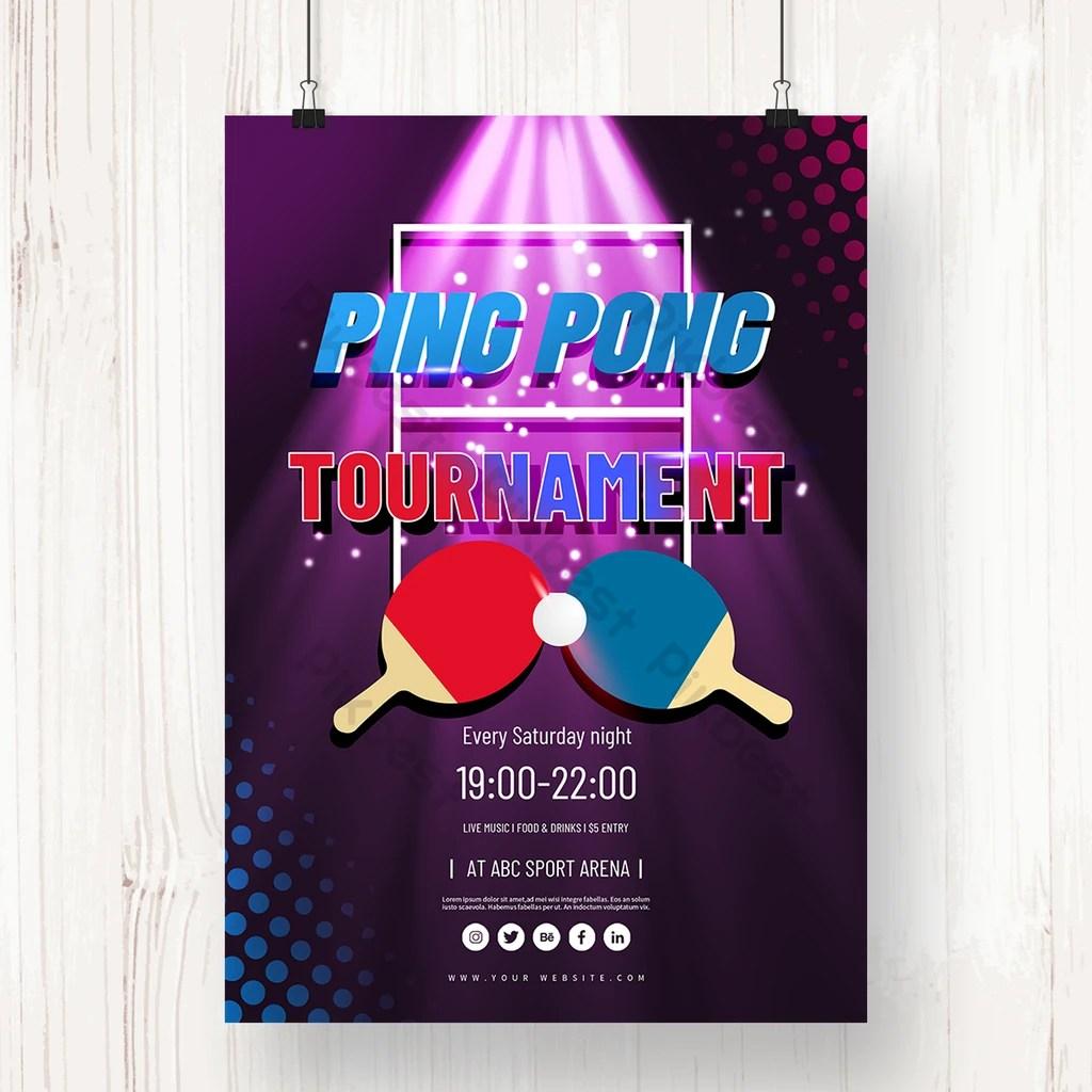 spotlight ping pong game poster psd