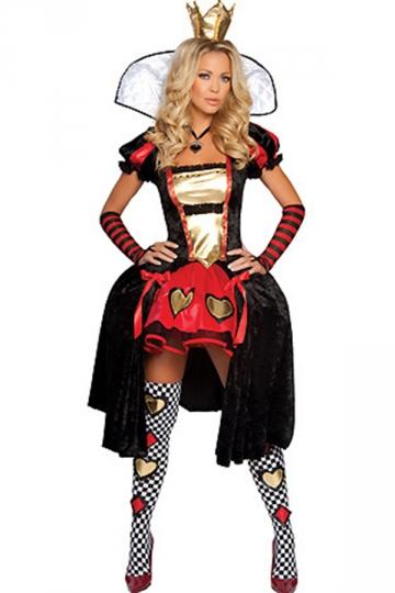 Black Sexy Queen Of Hearts Alice In Wonderland Halloween