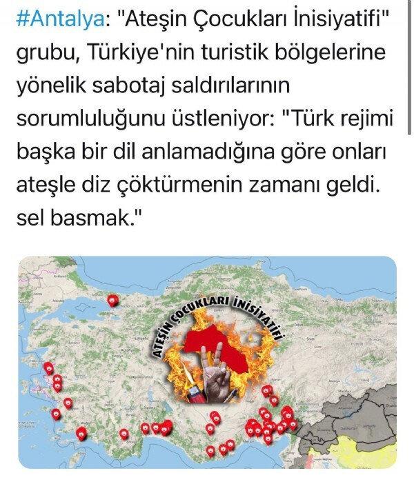 Orman yangınlarını PKK'ya bağlı 'Ateşin Çocukları' üstlendi  14
