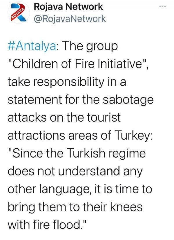 Orman yangınlarını PKK'ya bağlı 'Ateşin Çocukları' üstlendi  15