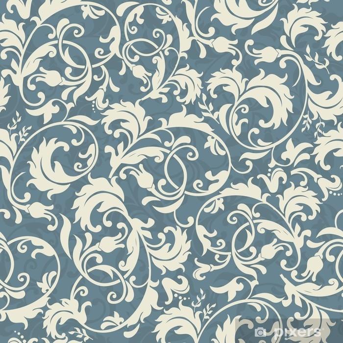rideau occultant motif victorien sans couture en bleu gris et beige pixers nous vivons pour changer