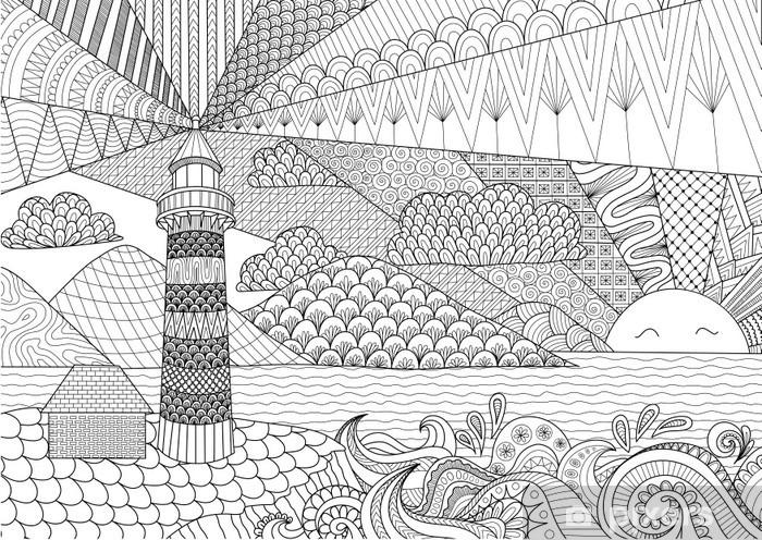 Muri da riscrivere e colorare, la carta da parati eurocrom4you ti permettere di creare ambienti ludici in continua evoluzione, crea una grafica adatta e permetti ai tuoi bambini di colorare e riscrivere i muri della loro cameretta, ciò che prima era un divieto si trasforma in un gioco di colori. Carta Da Parati Art Design Linea Vista Sul Mare A Libro Da Colorare Per Adulti Contro Lo Stress Da Colorare Vettoriali Pixers Viviamo Per Il Cambiamento