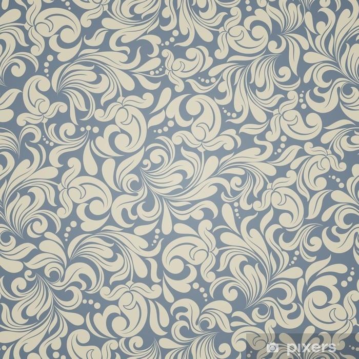 rideau occultant fond transparent de couleur beige et bleu clair dans le style de damas pixers nous vivons pour changer