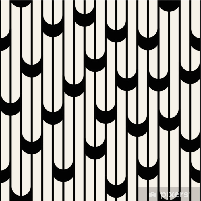 rideau occultant motif de lignes design graphique minimaliste abstrait noir et blanc geometrique