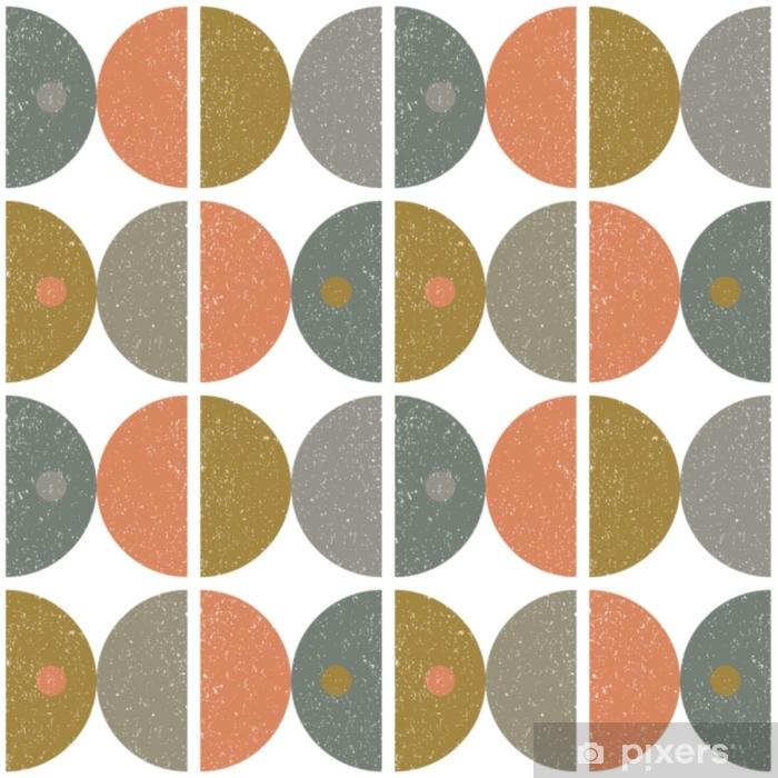 rideau occultant motif geometrique sans soudure abstraite de vecteur moderne avec des demi cercles et des cercles dans un style scandinave retro