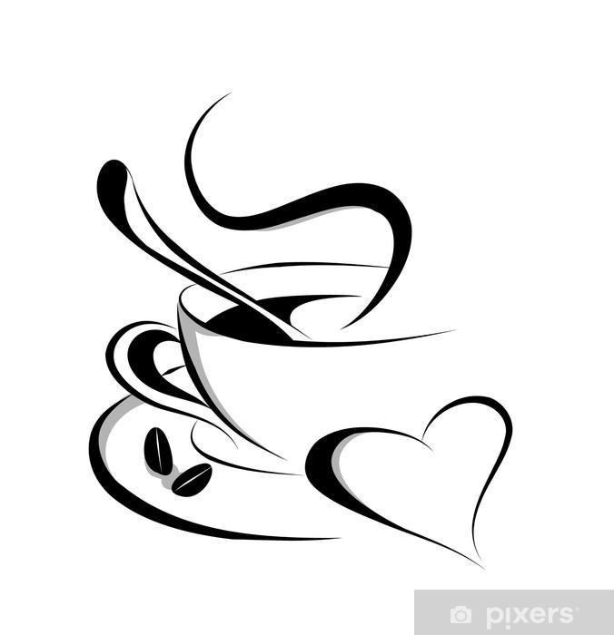 Download Coffee love vector Wall Mural • Pixers® • We live to change