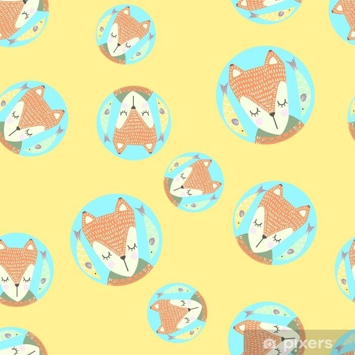 https pixers fr papiers peints modele sans couture scandinaves avec des renards et des feuilles design finlandais style nordique il peut etre utilise comme fond d 39 ecran bureau impression emballage tissu ou arriere plan pour votre blog vos couvertures et votre design 178099208
