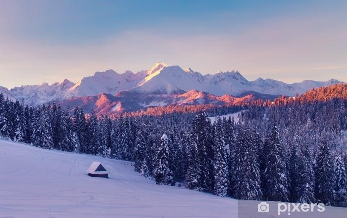 rideau occultant scene d hiver paysage d hiver de montagne incroyable pixers nous vivons pour changer