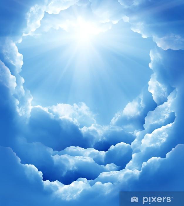 De Sol Nubes Con Y Cielo Azul Rayos