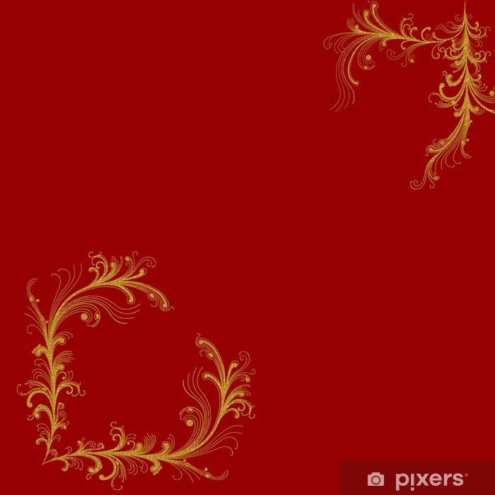poster fond rouge bordeaux coins decoratifs or pixers nous vivons pour changer