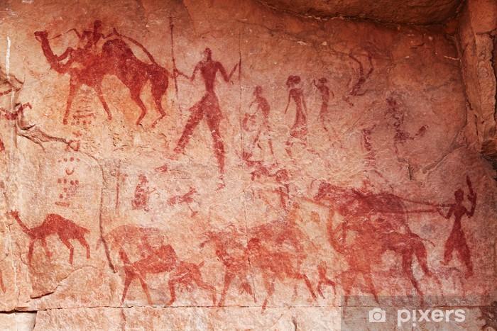 Nálepka Pixerstick Skalní malby Tassili n'Ajjer, Alžírsko • Pixers® • Žijeme pro změnu