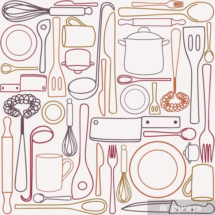 papier peint ustensiles de cuisine seamless pixers nous vivons pour changer