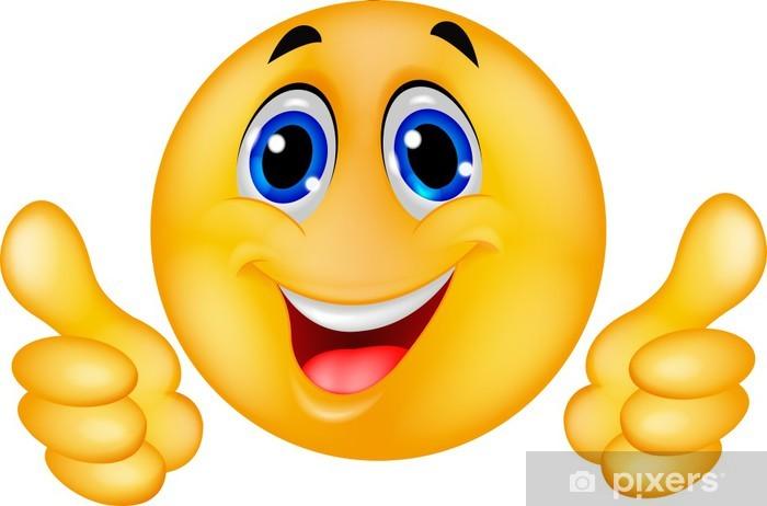 Fototapete Glückliche Smiley Emoticon Gesicht • Pixers