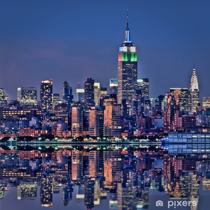 fototapete new york empire state building de nuit pixers wir leben um zu verandern