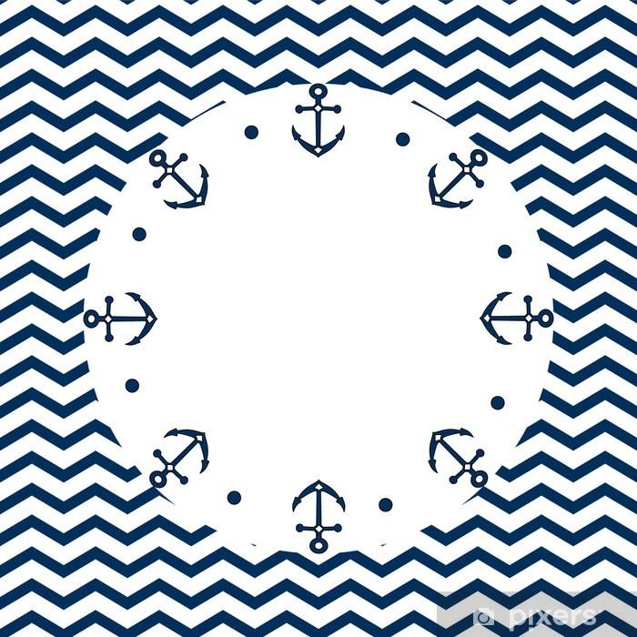 rideau occultant bleu marine et blanc frame avec des ancres sur un chevron vecteur pixers nous vivons pour changer