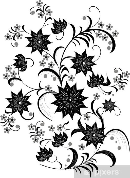 rideau occultant noir et blanc decoration florale pixers nous vivons pour changer