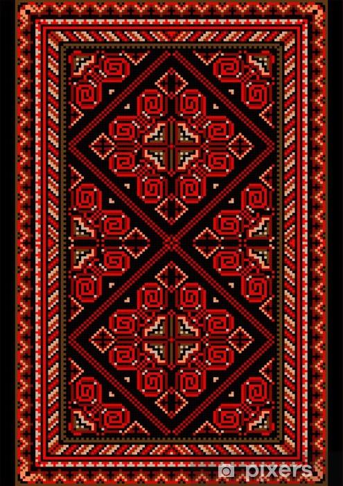 papier peint tapis lumineux dans le style ancien avec des nuances rouges et bordeaux pixers nous vivons pour changer