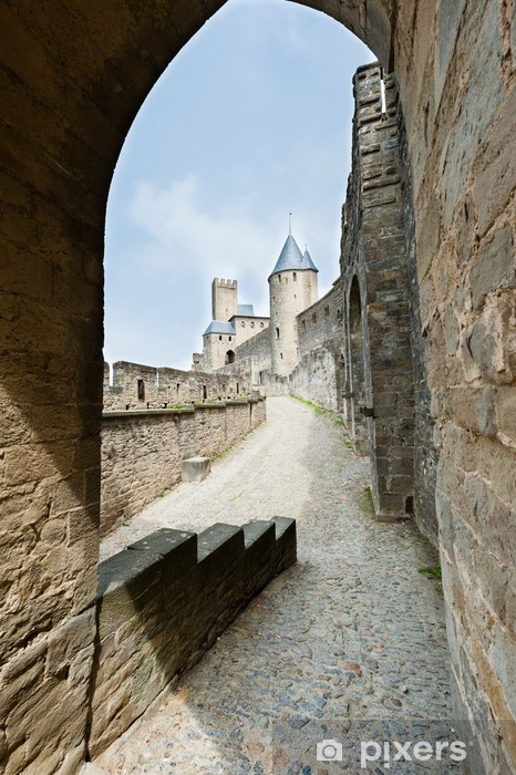carcassonne fortress vinyl wall mural europe