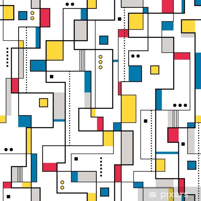 papier peint jaune rouge et bleu motif abstrait pixers nous vivons pour changer