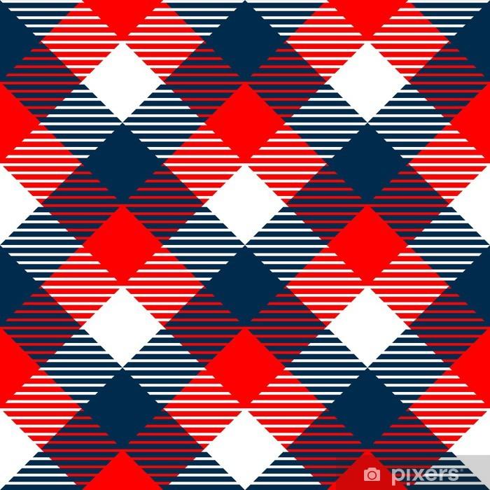 rideau occultant tissu a carreaux vichy seamless en bleu blanc rouge pixers nous vivons pour changer