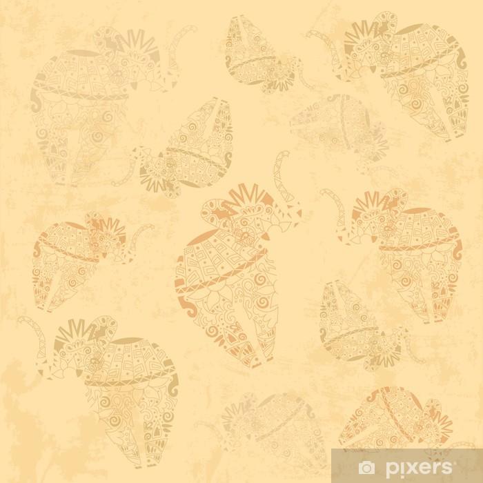 https pixers fr papiers peints modele d 39 elephant ethnique fond d 39 ecran dans le vecteur 60796804