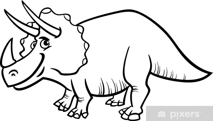 Triceratops Dinosaur Coloring Page Wall Mural Pixers We Live To Change